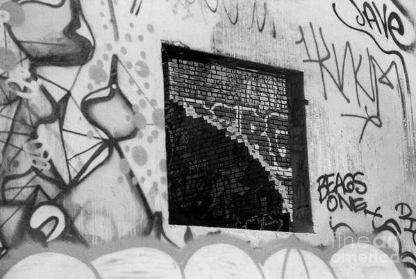 Art Print featuring the photograph Graffiti At Fountain Grove Winery by Steve Ruddy