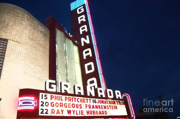 Music Art Print featuring the photograph Granada Theater by Debbi Granruth