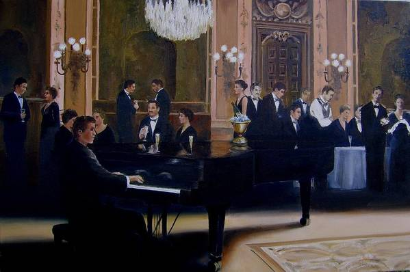 Grand Piano Art Print featuring the painting Grand Ballroom by Jim Horton