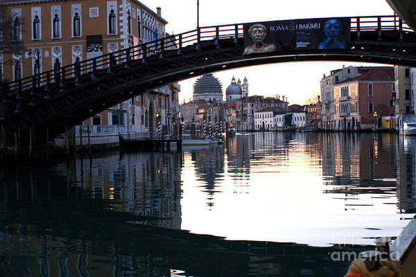 Venice Art Print featuring the photograph Grand Canal In Venice At Sunrise by Michael Henderson