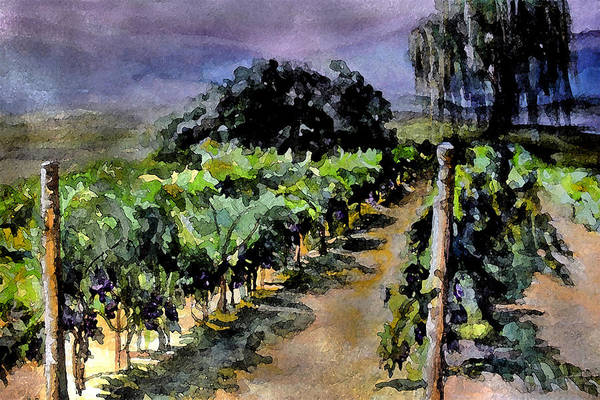 Vineyard Art Print featuring the painting Grapes Of Niagara by Mary Sonya Conti