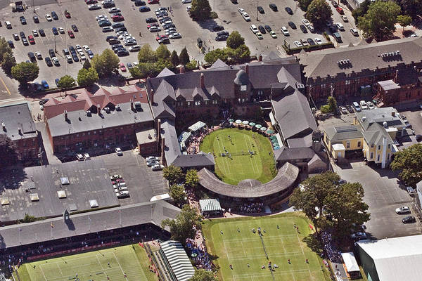 Tennis Hall Of Fame 194 Bellevue Ave Newport Ri 02840-3586 Art Print featuring the photograph Grass Tennis Hall Of Fame 194 Bellevue Ave Newport Ri 02840 3586 by Duncan Pearson