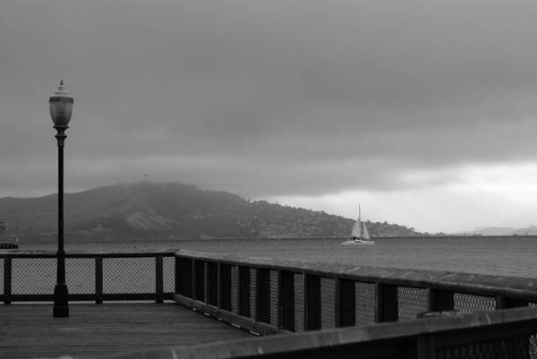 Water Art Print featuring the photograph Gray Over The Bay by Brian Anderson