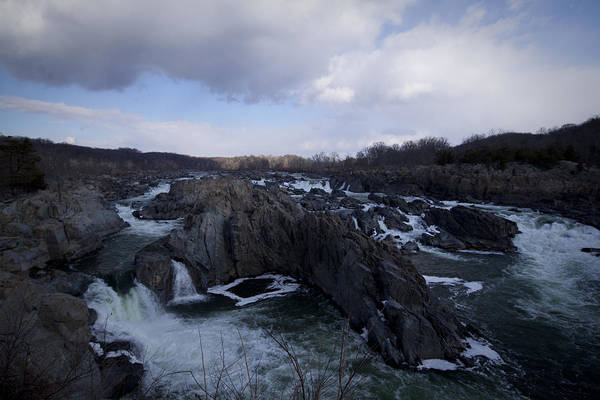Great Falls Art Print featuring the photograph Great Falls Winter 2011 by Christina Durity
