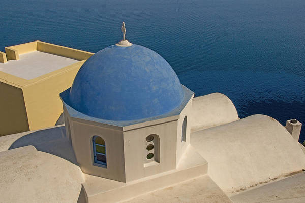 Greek Island Art Print featuring the photograph Greek Island Dome by Charles Ridgway