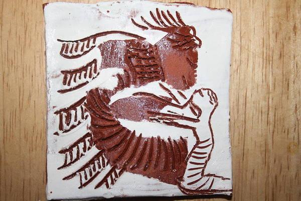 Gloria Photosgloria Photospineapple2pineapple Art Print featuring the ceramic art Greeting 7 - Tile by Gloria Ssali
