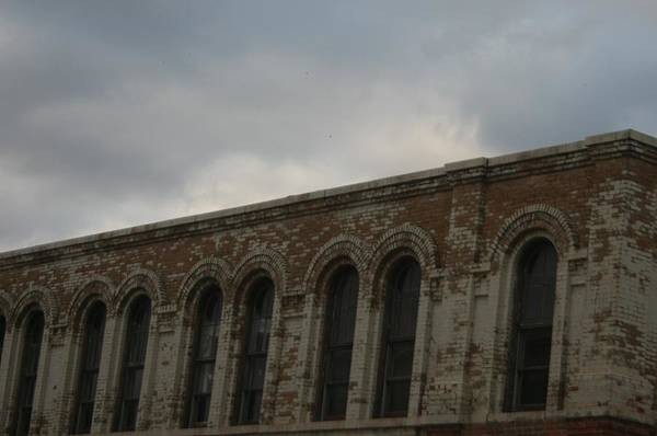 Old Building Art Print featuring the photograph Grey Sky's by Magi Yarbrough