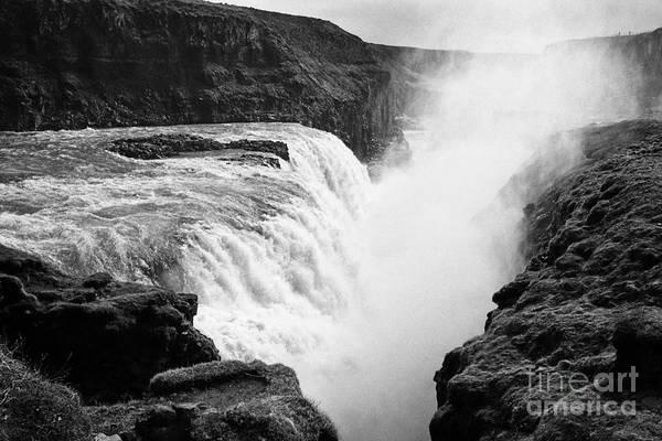 Gullfoss Art Print featuring the photograph Gullfoss Waterfall Iceland by Joe Fox