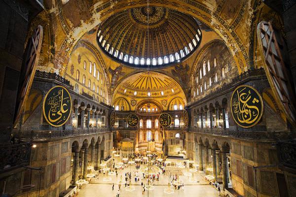 Hagia Art Print featuring the photograph Hagia Sophia Interior by Artur Bogacki