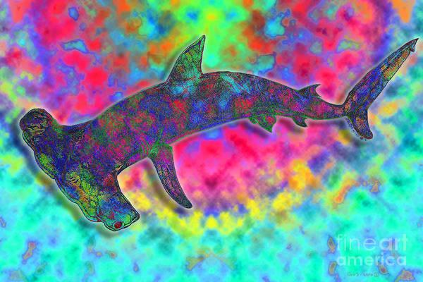 Hammer Head Shark Art Print featuring the drawing Hammer Head 2 by Nick Gustafson