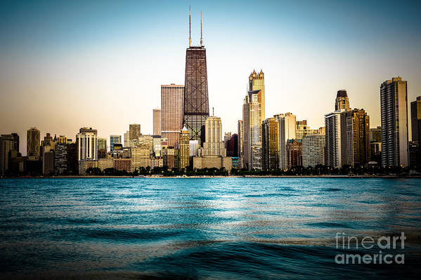 America Art Print featuring the photograph Hancock Building And Chicago Skyline Photo by Paul Velgos