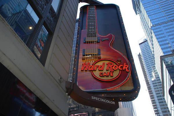Music Art Print featuring the photograph Hard Rock Cafe N Y C by Rob Hans