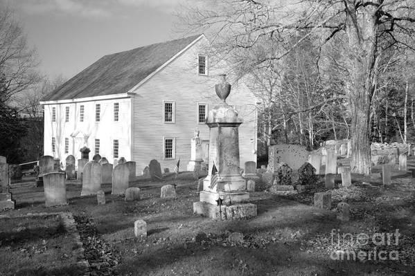 Maine Art Print featuring the photograph Harrington Meetinghouse -bristol Me Usa by Erin Paul Donovan