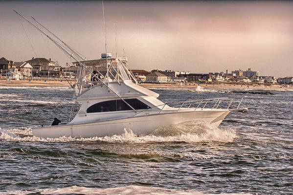 Hdr Art Print featuring the photograph Hdr Fishing Boat Ocean Beach Beachtown Boadwalk Scenic Photography Photos Pictures Boating Sea Pics by Pictures HDR