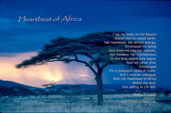 Africa Art Print featuring the photograph Heartbeat Of Africa by Christina Solstad