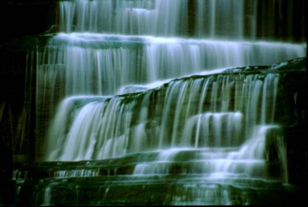 Waterfall Art Print featuring the photograph Hector Falls -detail by Roger Soule