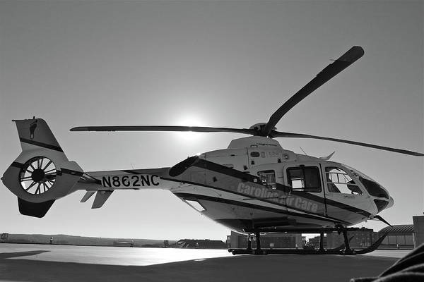 Helicopter Art Print featuring the digital art Helicopter by Dorothy Binder