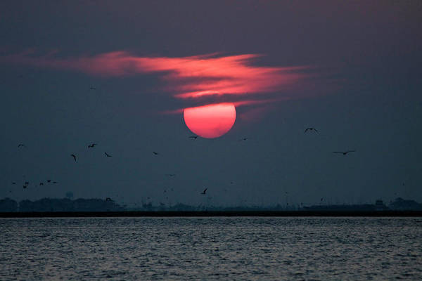 Sunset Art Print featuring the photograph Helios by Doc Hafferty