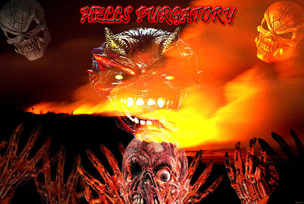Fire Art Print featuring the digital art Hells Purgatory by Evelyn Patrick