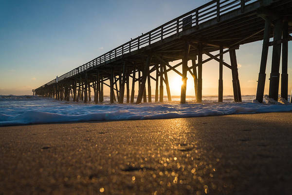 Flagler Beach Art Print featuring the photograph Here Comes The Sun by Kristopher Schoenleber