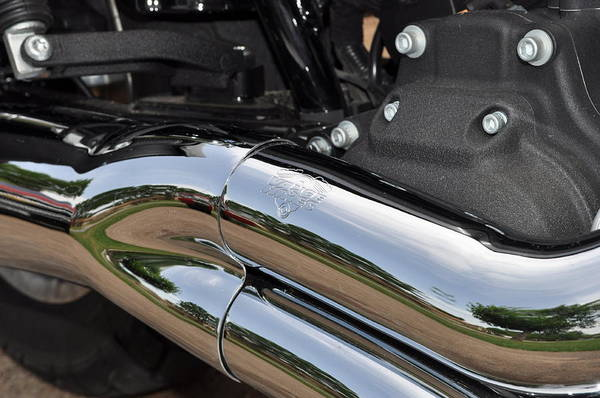 Custom Harley Art Print featuring the photograph Here I Come by Ruben Barbosa