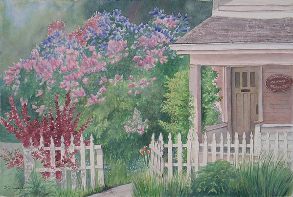 Heritage Art Print featuring the painting Heritage House by Debbie Homewood