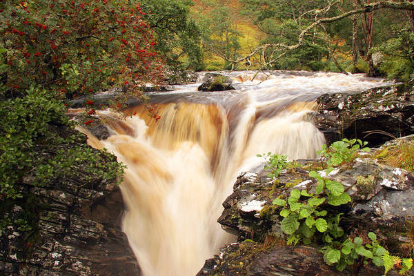 Scotland Art Print featuring the photograph Highland Waterfall Dundonnell River by John McKinlay