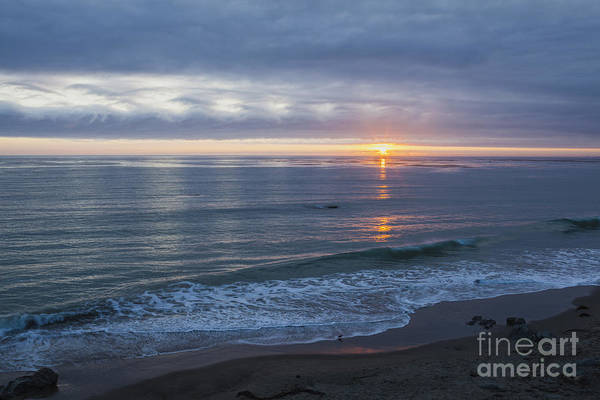 Clouds Art Print featuring the photograph Hills Of Clouds With Ocean Sunset by Sharon Foelz