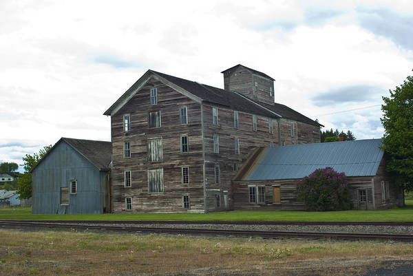 Historical Art Print featuring the photograph Historical Barron Wheat Flour Mill In Oakesdale Wa by Louise Magno