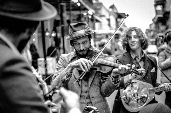 New Orleans Art Print featuring the photograph Hobo Ragtime Band by Chuck Jines