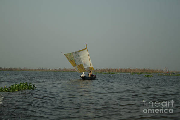 Ganvie Art Print featuring the photograph Home Made Sail by David Shaffer