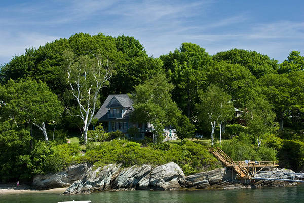 Maine Art Print featuring the photograph Home On Little Diamond Island by Filipe N Marques