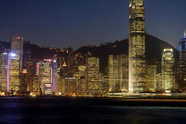 City Art Print featuring the photograph Hong Kong Harbor December 1 by Brad Rickerby