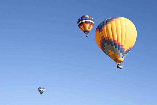 Balloons Art Print featuring the photograph Hot Air Balloon Ride A Special Adventure by Christine Till