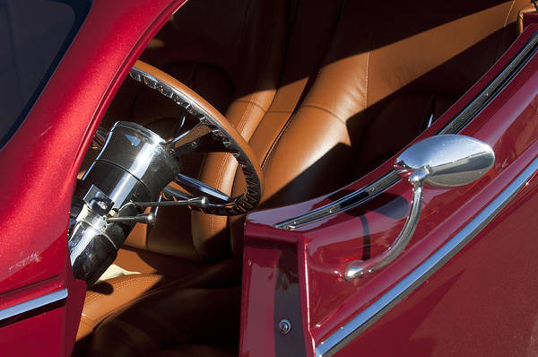 Hot Rod Art Print featuring the photograph Hot Rod Steering Wheel by Jill Reger