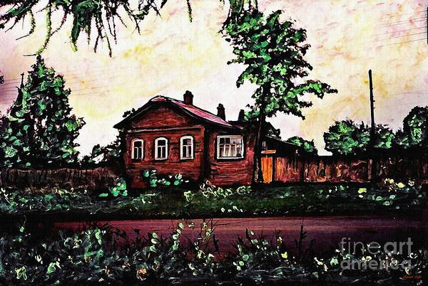 House Art Print featuring the mixed media House In Sergiyev Posad  by Sarah Loft