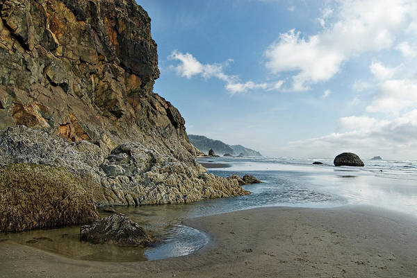 Oregon Art Print featuring the photograph Hug Point Beach by Renee Hong