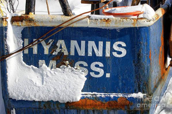 Winter Art Print featuring the photograph Hyannis Massachusetts Fishing Boat by Matt Suess