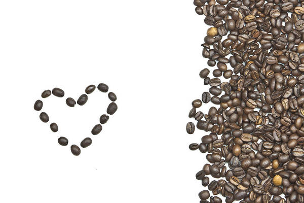Coffee Beans Art Print featuring the photograph I Love Coffee by Joana Kruse