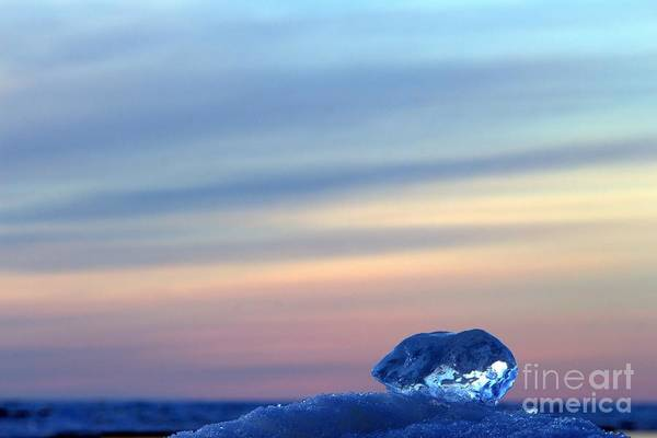 Grand Bend Art Print featuring the photograph Ice Cube Sky 2 by John Scatcherd
