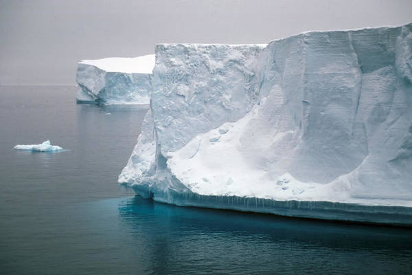 Iceberg Art Print featuring the photograph Icebergs In The Weddell Sea Antarctica by Brian Lockett