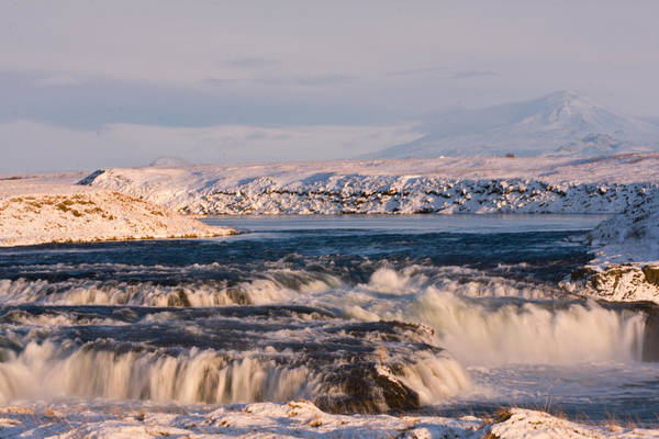 Iceland Art Print featuring the photograph Icecold Waterfall by Jonerr
