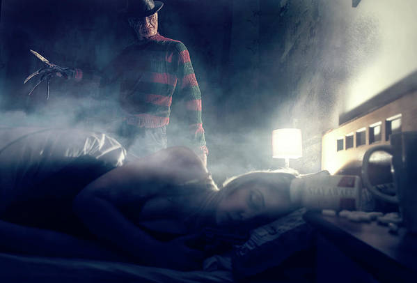 Art Print featuring the digital art Icons Of Horror Nightmare On Elm Street by Clinton Lofthouse