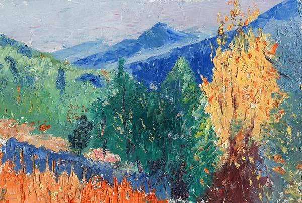 Landscape Art Print featuring the painting In The Hills by Horacio Prada