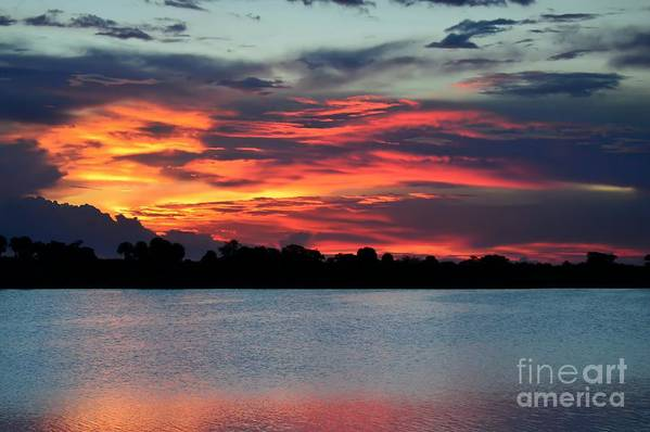 Sunset Art Print featuring the photograph Incredible Red Sky by Glenn Forman