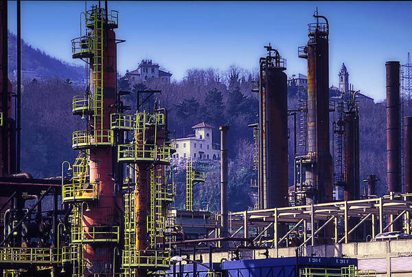 Luoghi Abbandonati Art Print featuring the photograph Industrial Archeology Refinery Plant 08 by Enrico Pelos