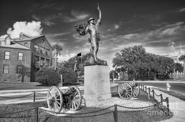 iron Mike Art Print featuring the photograph Iron Mke Statue - Parris Island by Scott Hansen