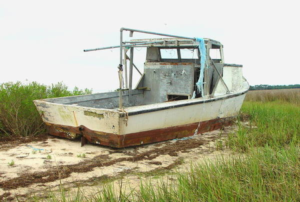 Boat Art Print featuring the photograph Island Boat by Debbie May