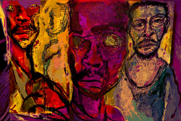 Human Composition Art Print featuring the painting Iso2008 by Noredin Morgan