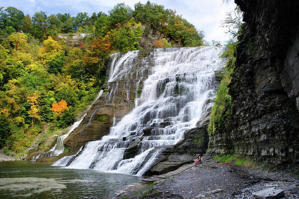 Ithaca Art Print featuring the photograph Ithaca Falls by Christina Rollo